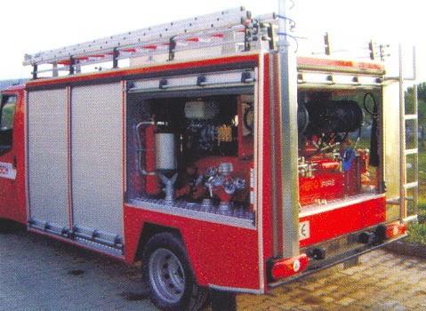Установка ROTFIRE в комплектации пожарного автомобиля.
