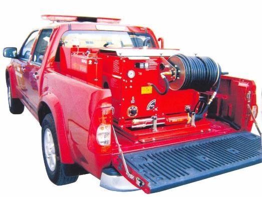 Установка ROTFIRE, смонтированная на легковом автомобиле.